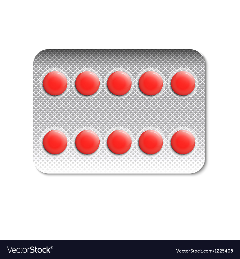 Round pills in a blister pack vector | Price: 1 Credit (USD $1)