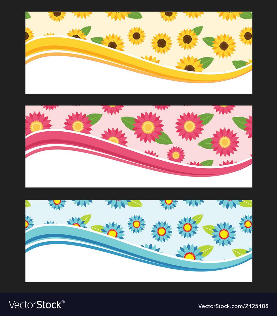 Set of wave background banner or header vector | Price: 1 Credit (USD $1)