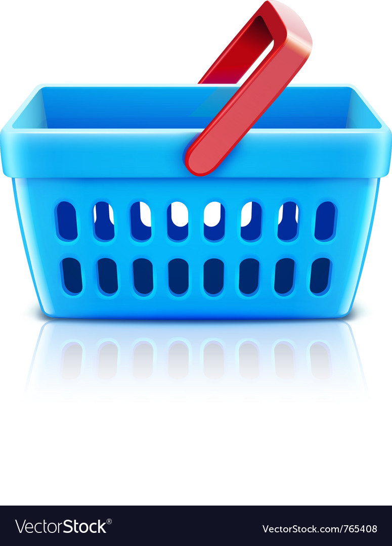 Supermarket shopping basket vector | Price: 1 Credit (USD $1)