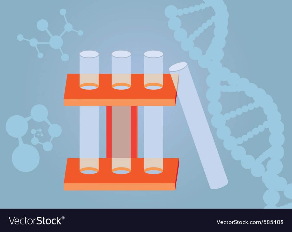 Three test tubes vector | Price: 1 Credit (USD $1)