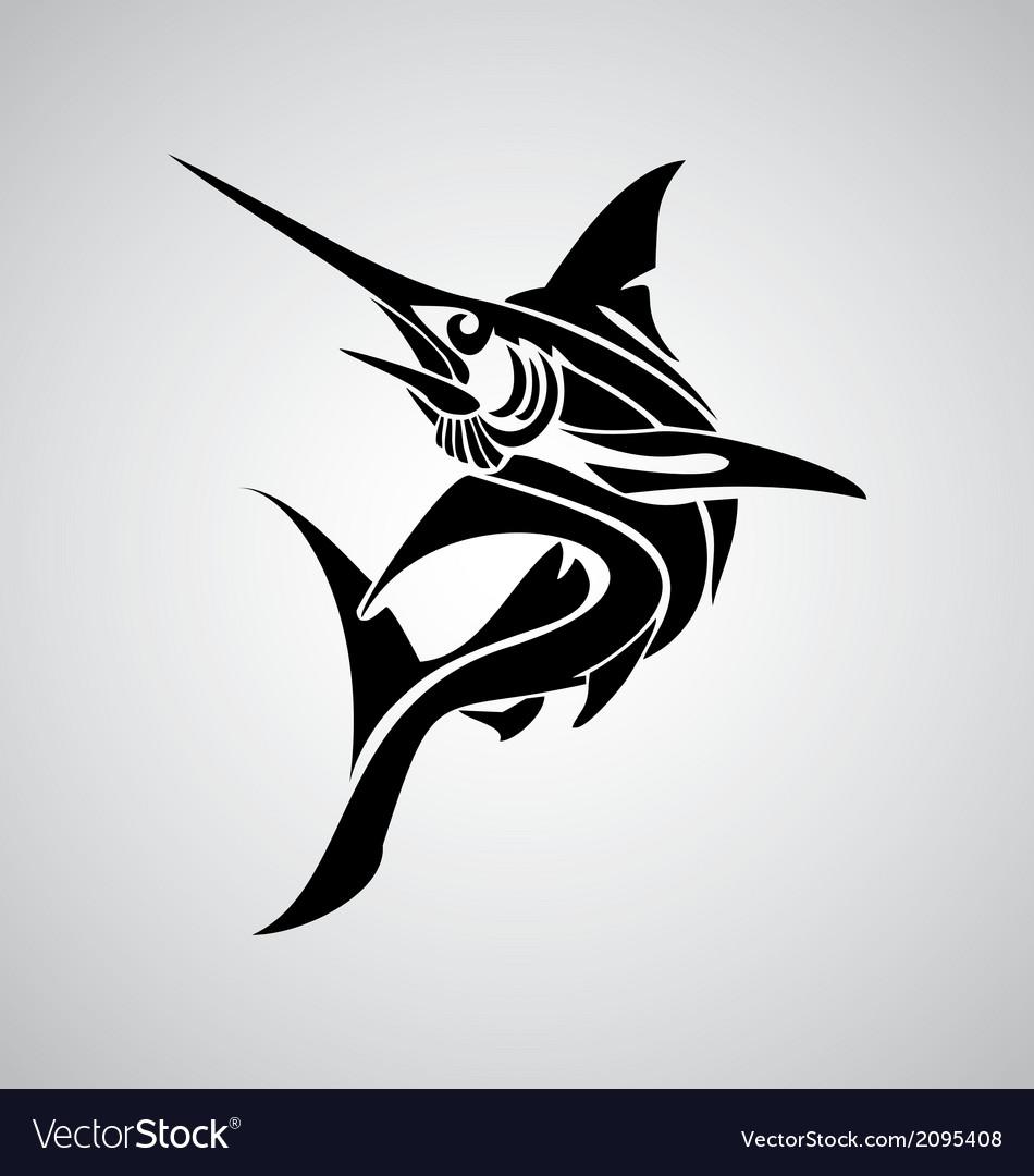 Tribal marlin fish vector | Price: 1 Credit (USD $1)