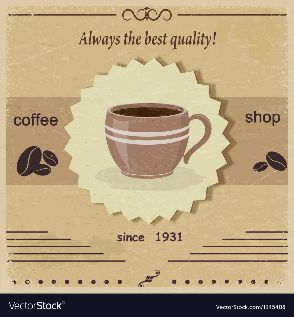 Vintage label coffee shop eps10 vector | Price: 1 Credit (USD $1)