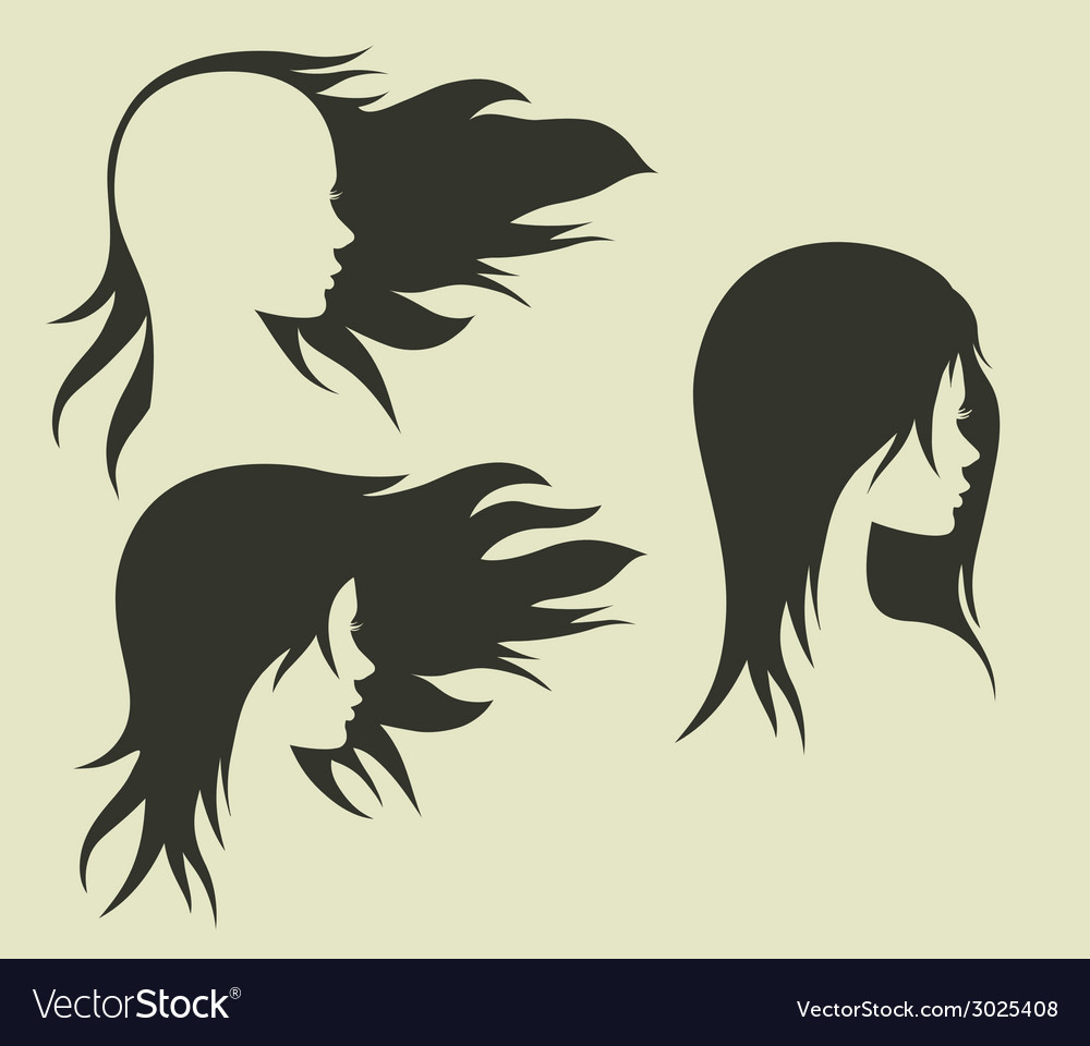 Womens hairstyle with her head vector | Price: 1 Credit (USD $1)