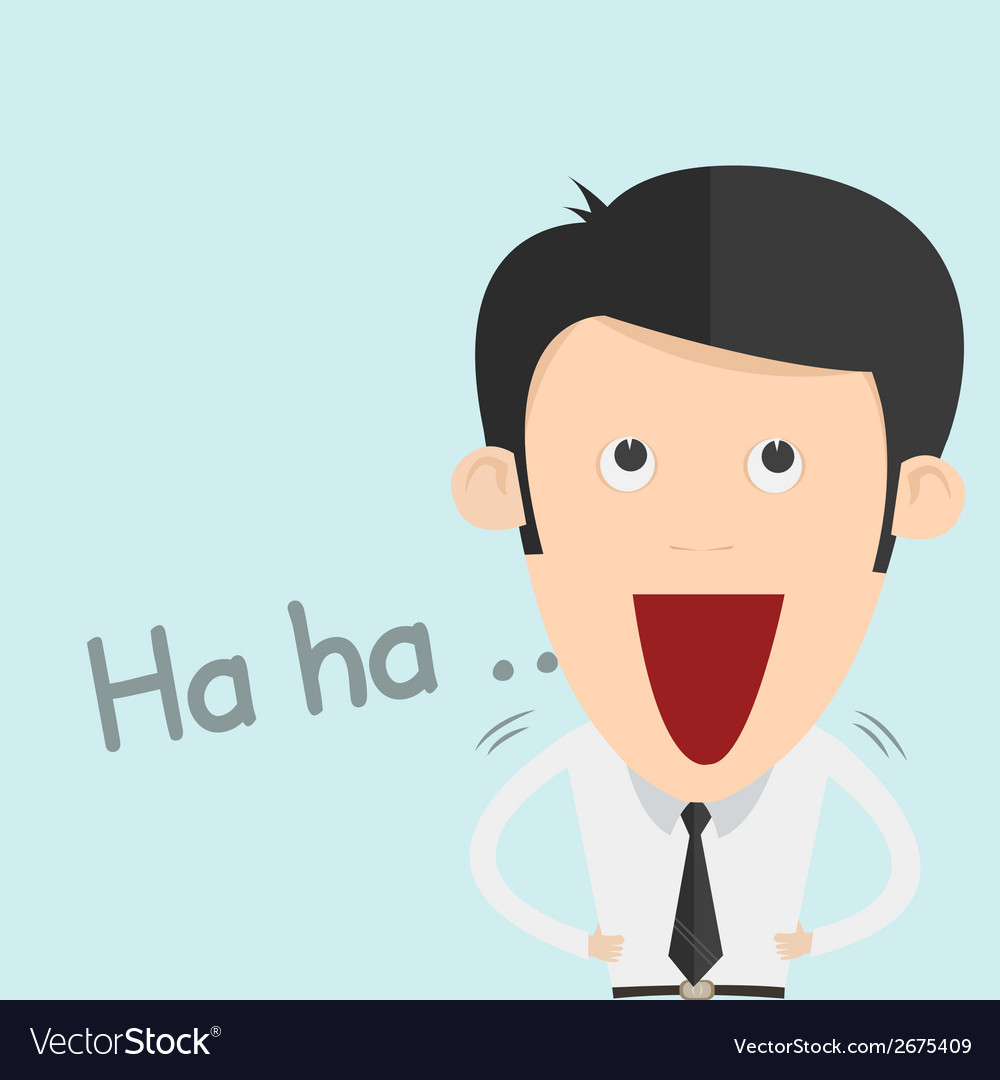 A boy laughing out loud vector | Price: 1 Credit (USD $1)