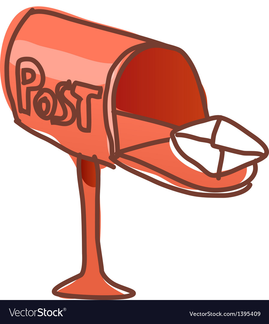 A post box is open vector | Price: 1 Credit (USD $1)