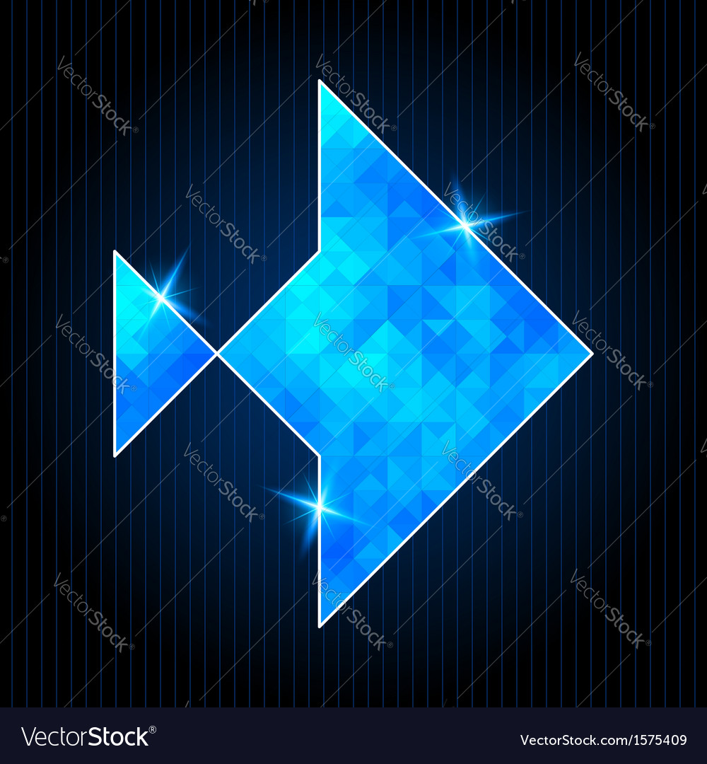 Abstract polygonal fish vector | Price: 1 Credit (USD $1)