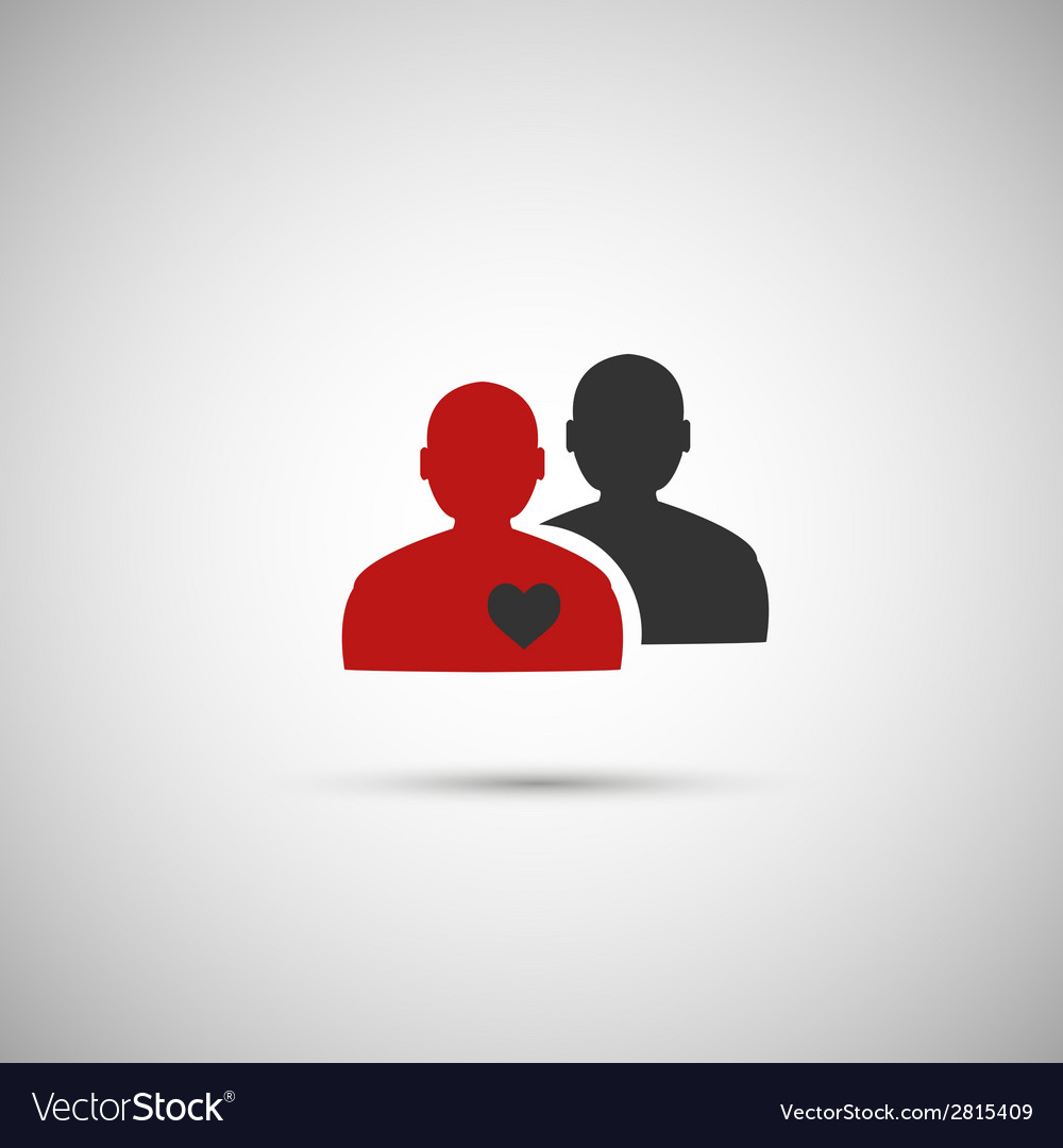 Black and red flat icon people eps vector | Price: 1 Credit (USD $1)