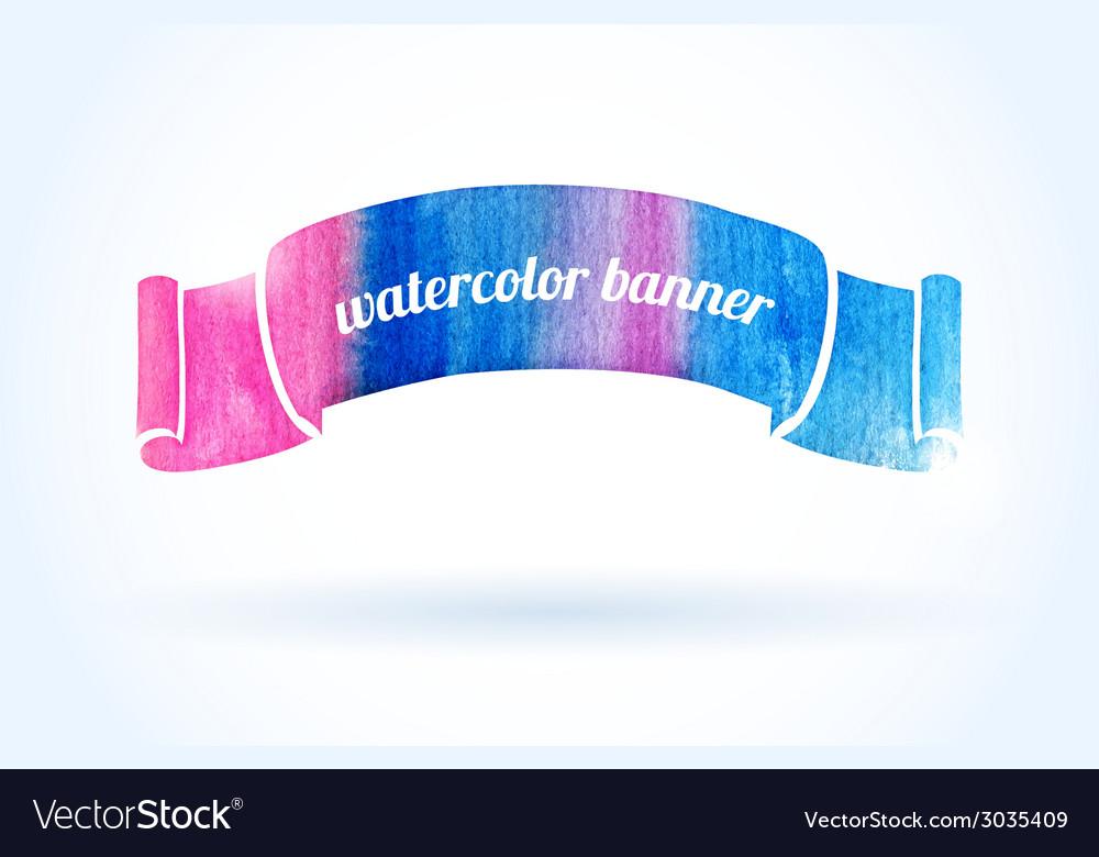 Bright watercolor banner vector | Price: 1 Credit (USD $1)