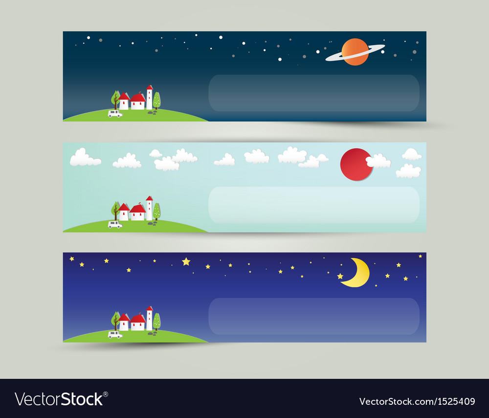 Colorful abstract city and the universe banner vector | Price: 1 Credit (USD $1)