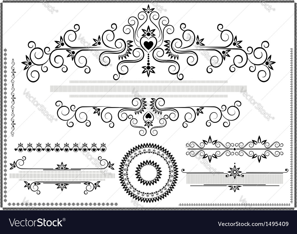 Decorative ornament border vector | Price: 1 Credit (USD $1)