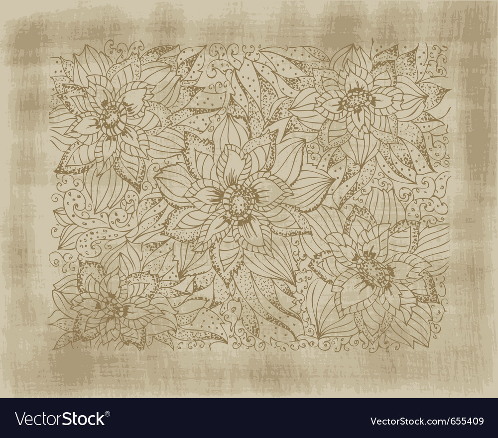 Hand drawing flowers vector | Price: 1 Credit (USD $1)