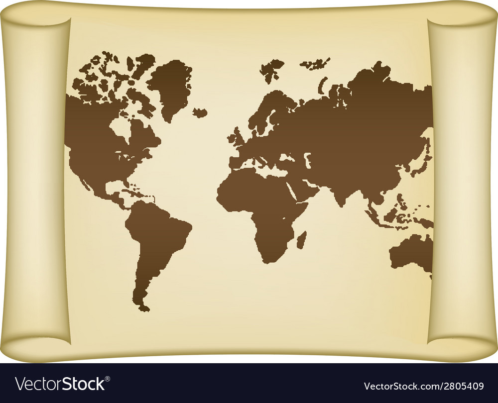 Historical world map vector | Price: 1 Credit (USD $1)
