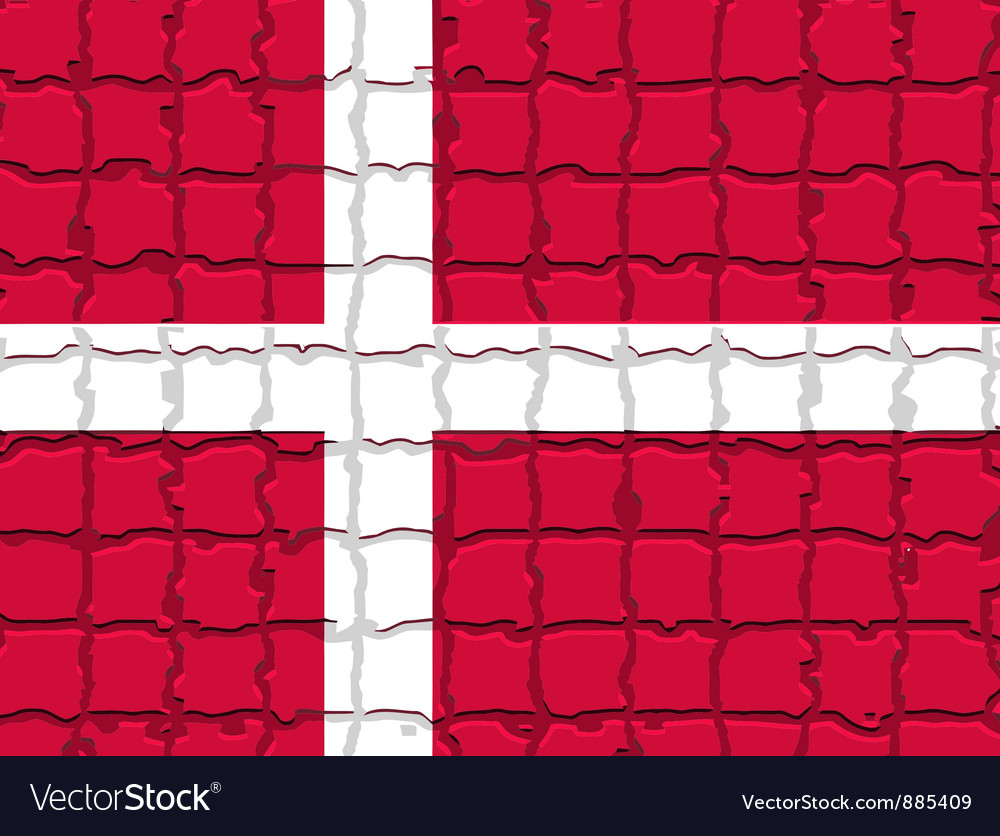 The mosaic flag of denmark vector | Price: 1 Credit (USD $1)