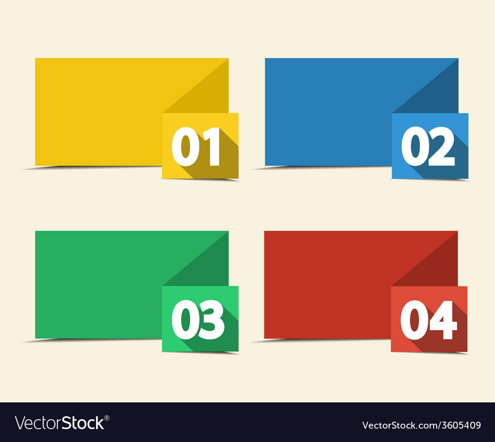 Numbered banners vector | Price: 1 Credit (USD $1)