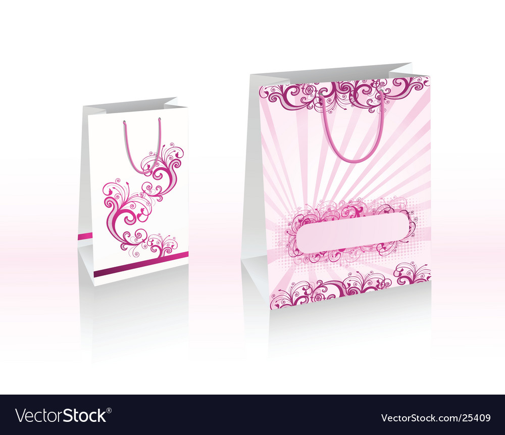 Purple shopping bags vector   Price: 1 Credit (USD $1)