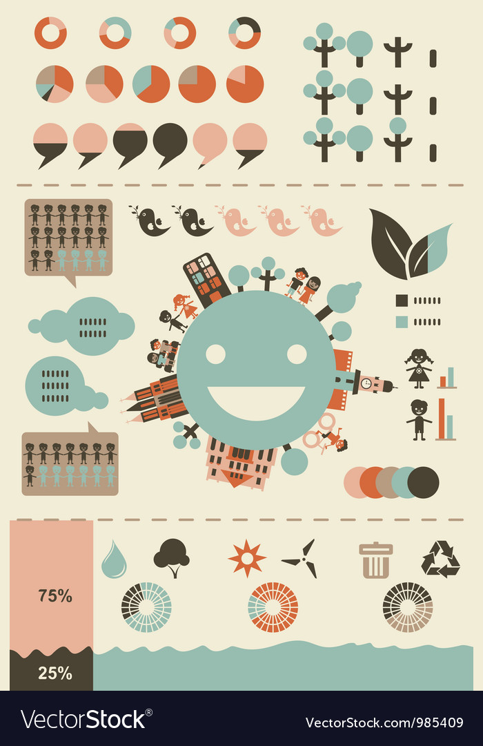 Retro infographics and ui elements vector | Price: 1 Credit (USD $1)