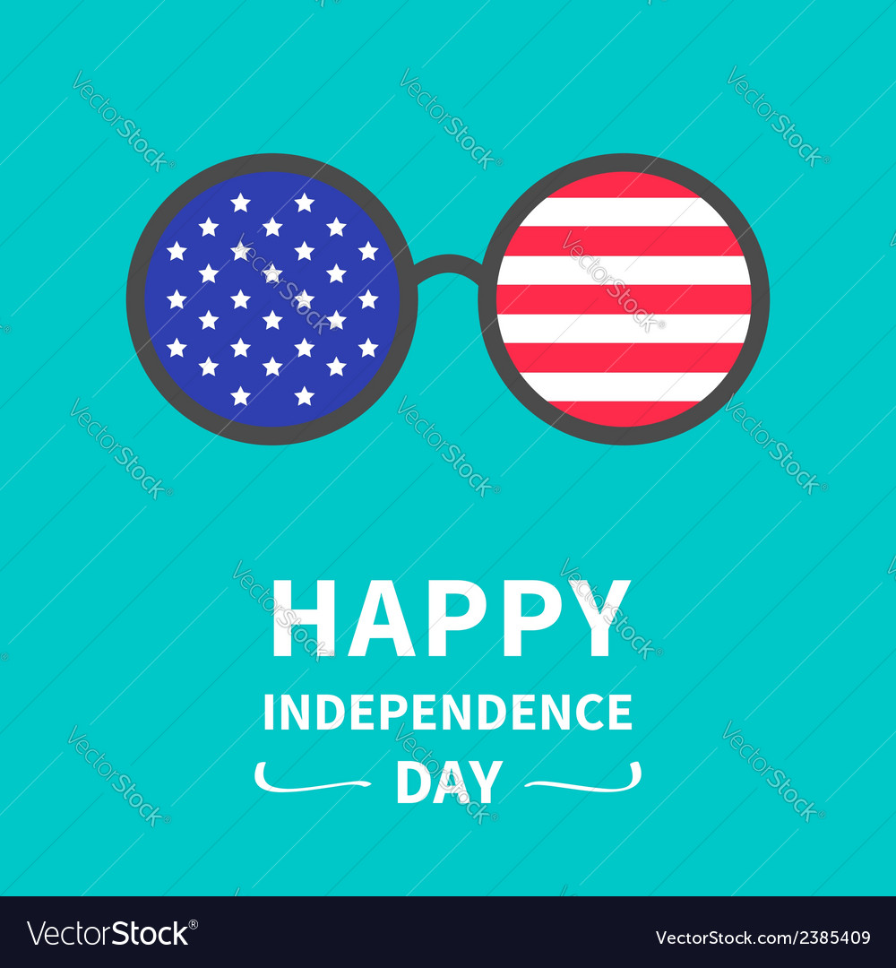 Round glasses stars and strips independence day vector | Price: 1 Credit (USD $1)