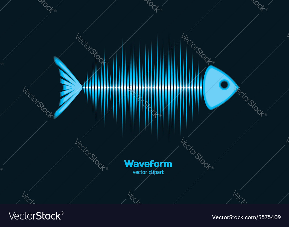 Sonar waveform fish vector | Price: 1 Credit (USD $1)