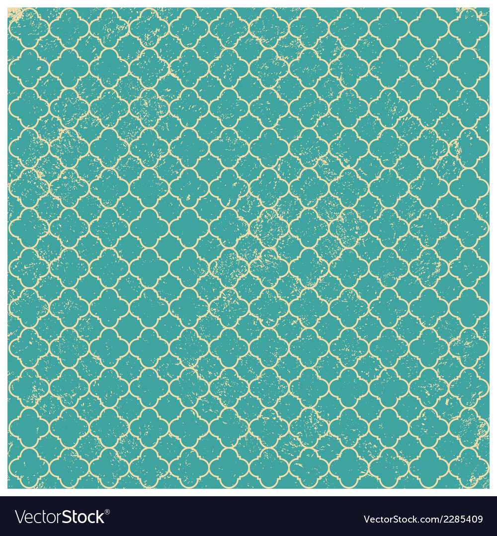 Vintage aqua worn seamless pattern background vector | Price: 1 Credit (USD $1)