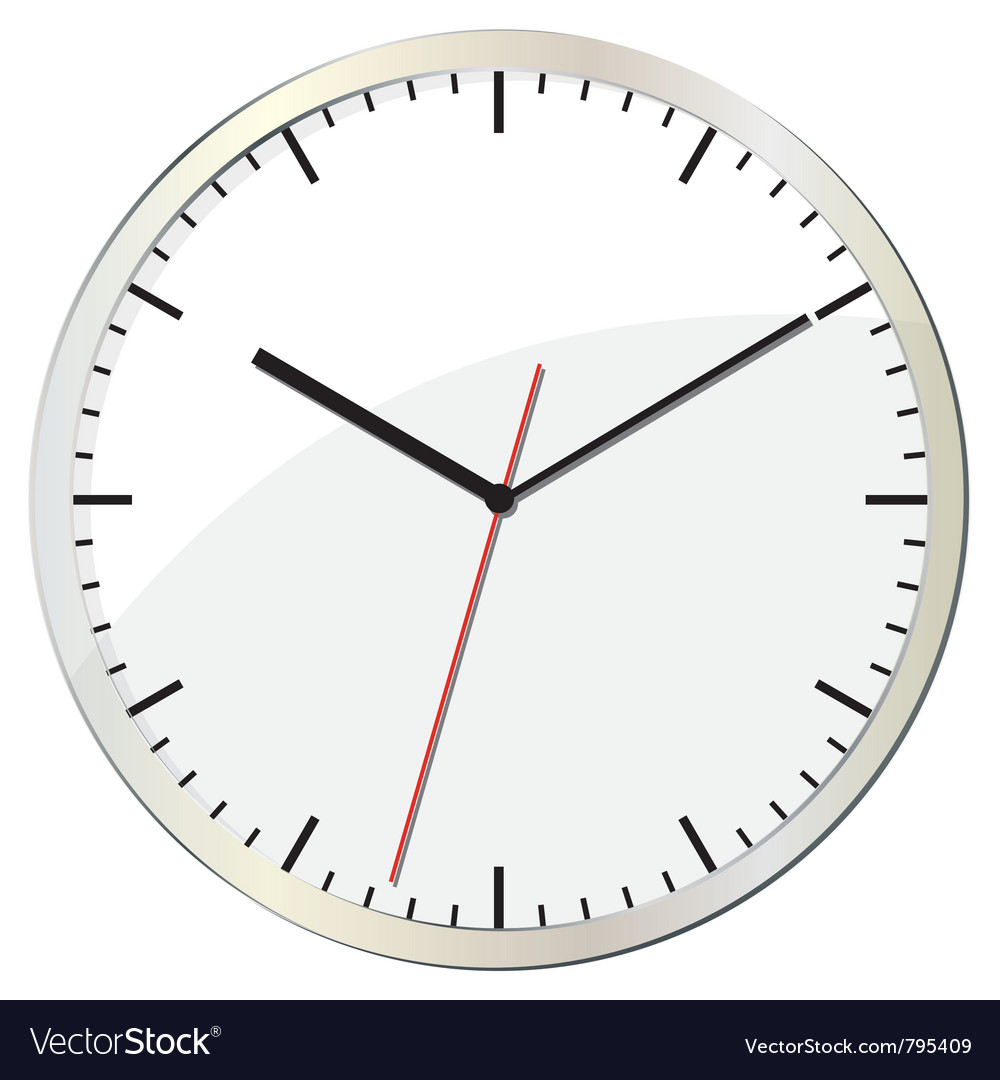Wall clock vector | Price: 1 Credit (USD $1)