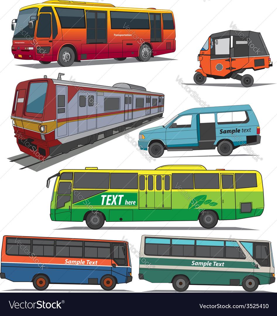 City transportation vector | Price: 3 Credit (USD $3)
