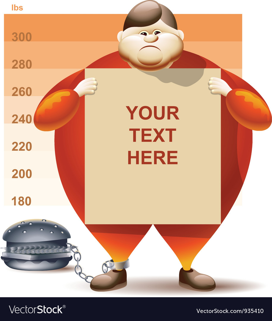 Condemned to obesity vector | Price: 5 Credit (USD $5)