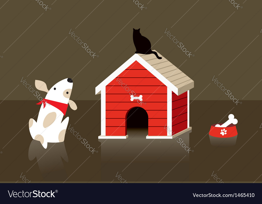 The dog and cat relation vector | Price: 1 Credit (USD $1)