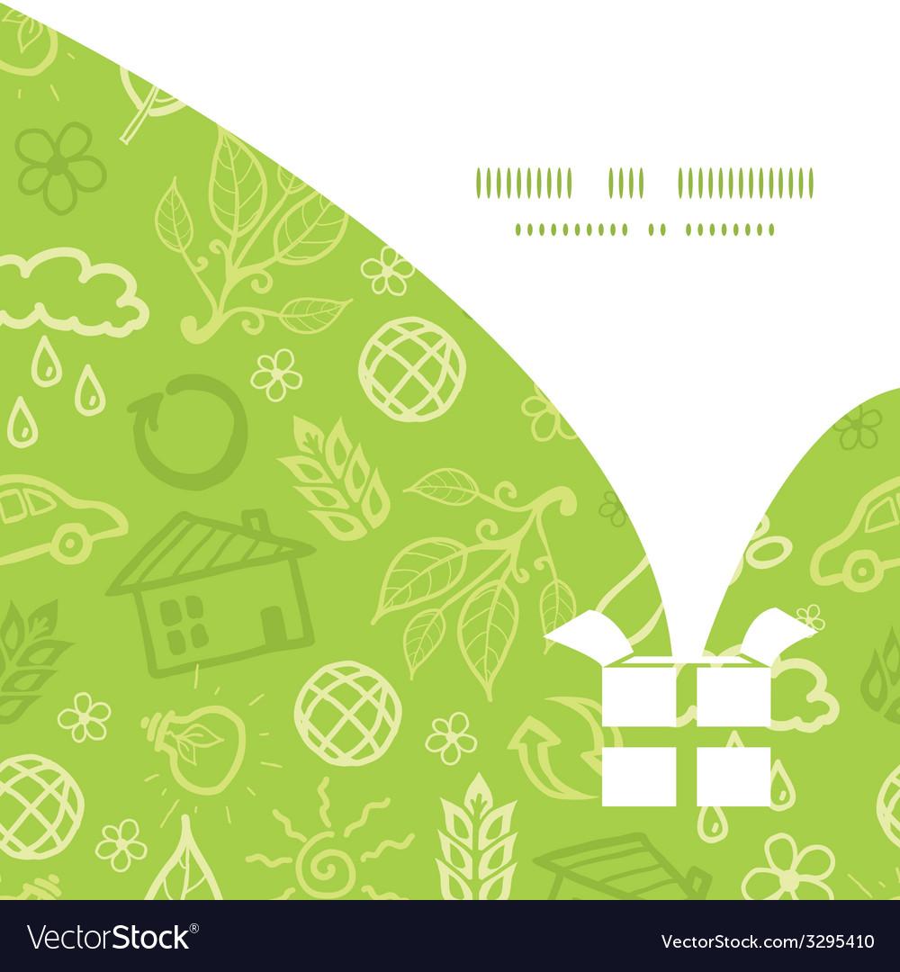 Environmental christmas gift box silhouette vector | Price: 1 Credit (USD $1)