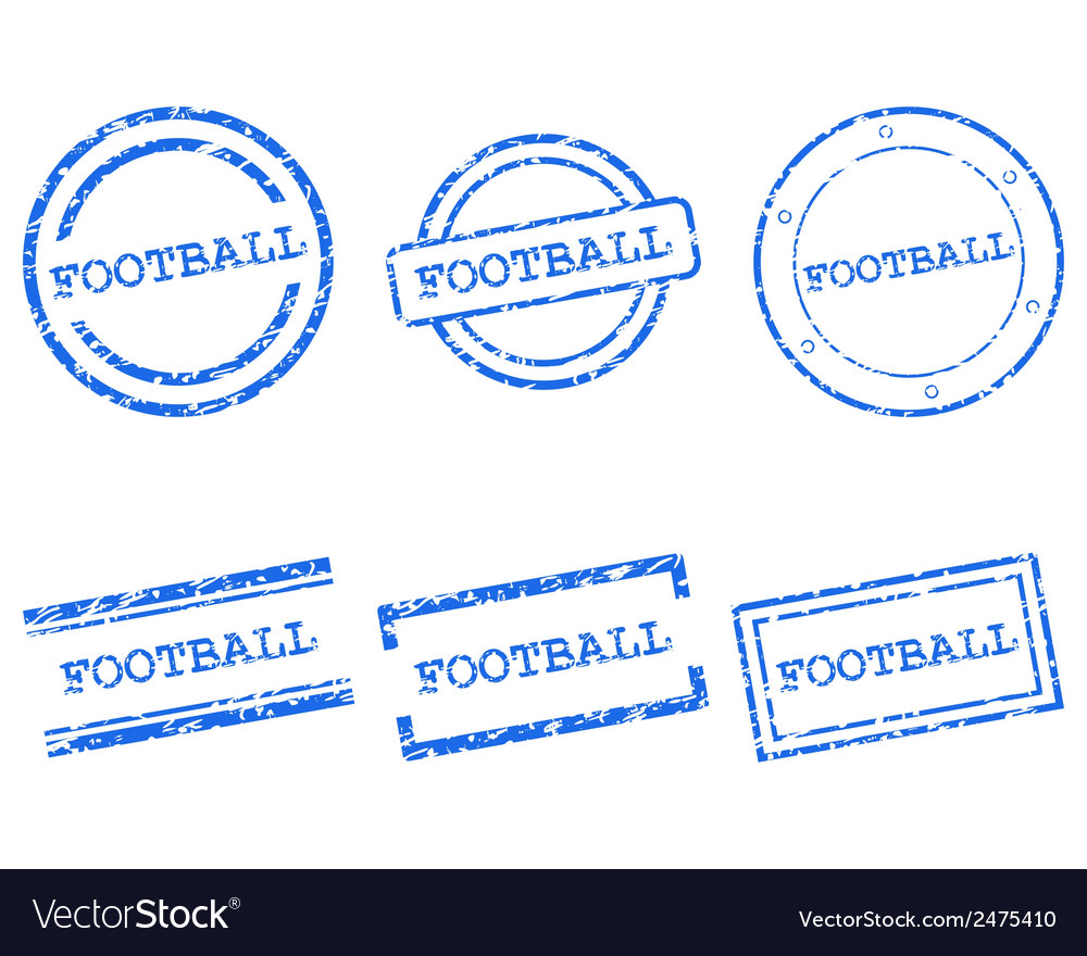 Football stamps vector | Price: 1 Credit (USD $1)