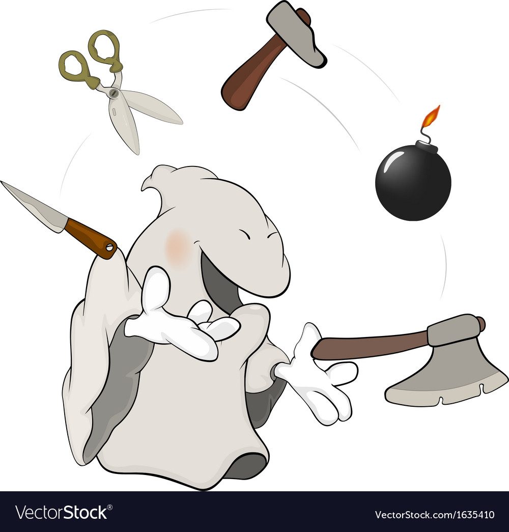Ghost the juggler cartoon vector | Price: 1 Credit (USD $1)