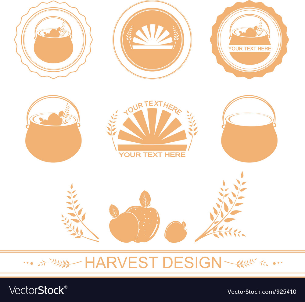 Harvest designs vector | Price: 1 Credit (USD $1)
