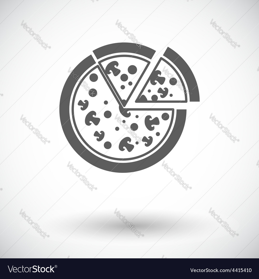 Pizza flat icon vector | Price: 1 Credit (USD $1)