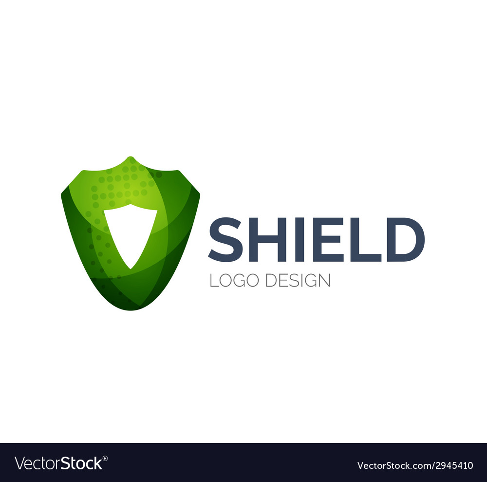 Secure shield logo design made of color pieces vector | Price: 1 Credit (USD $1)