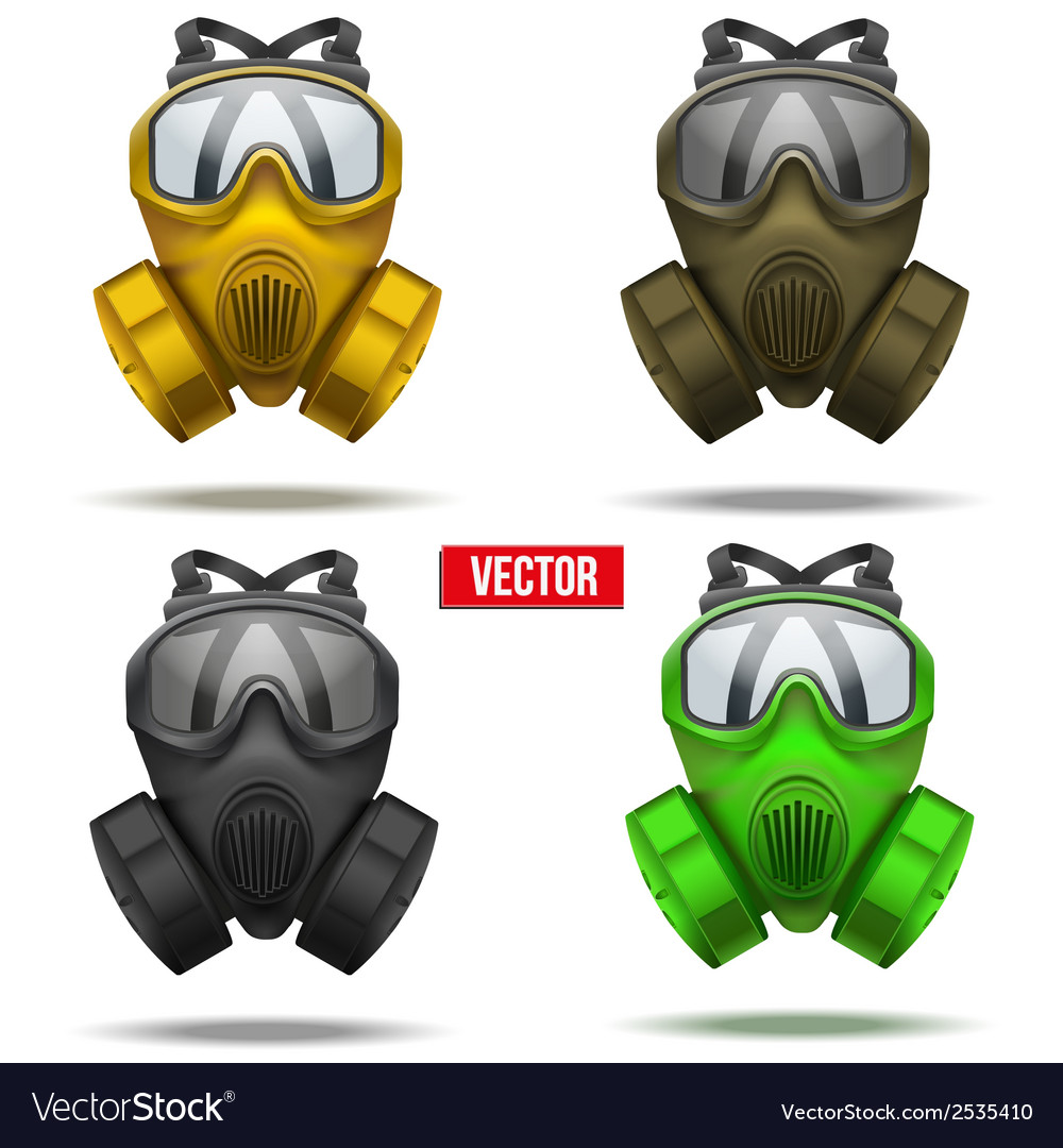 Set of gas mask respirator vector | Price: 1 Credit (USD $1)