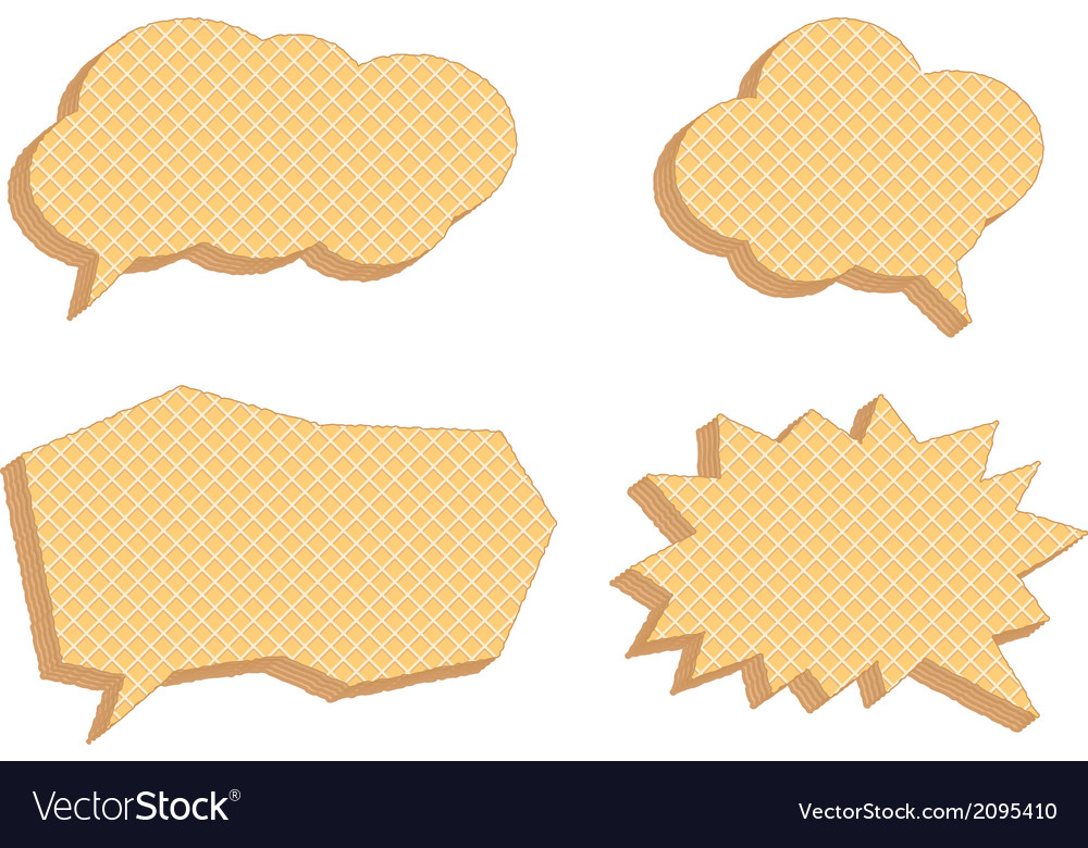 Speech bubbles consisting of waffles vector | Price: 1 Credit (USD $1)