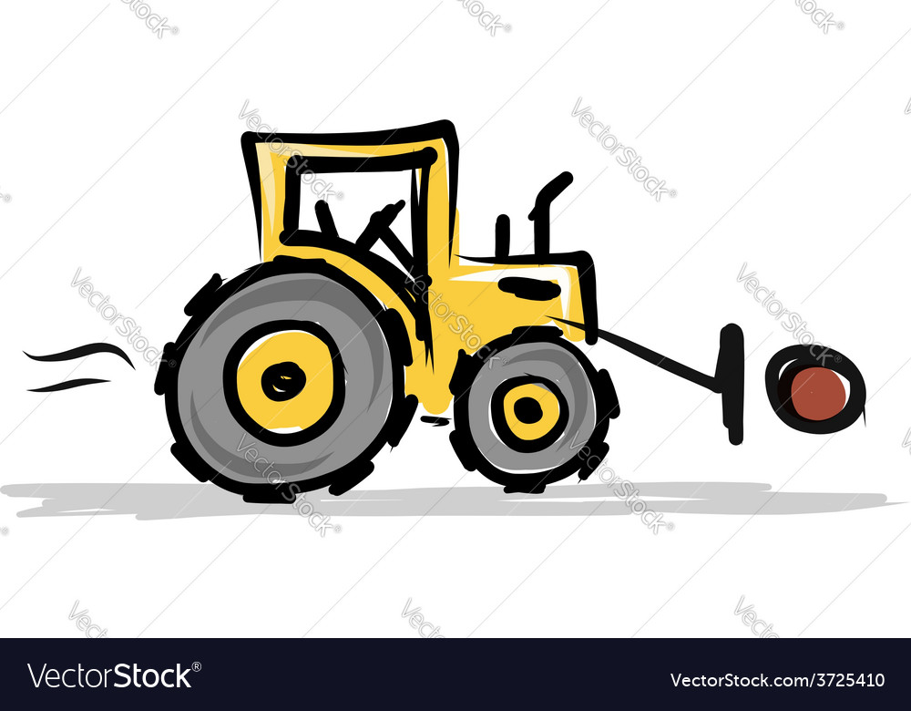 Tractor construction equipment for your design vector | Price: 1 Credit (USD $1)