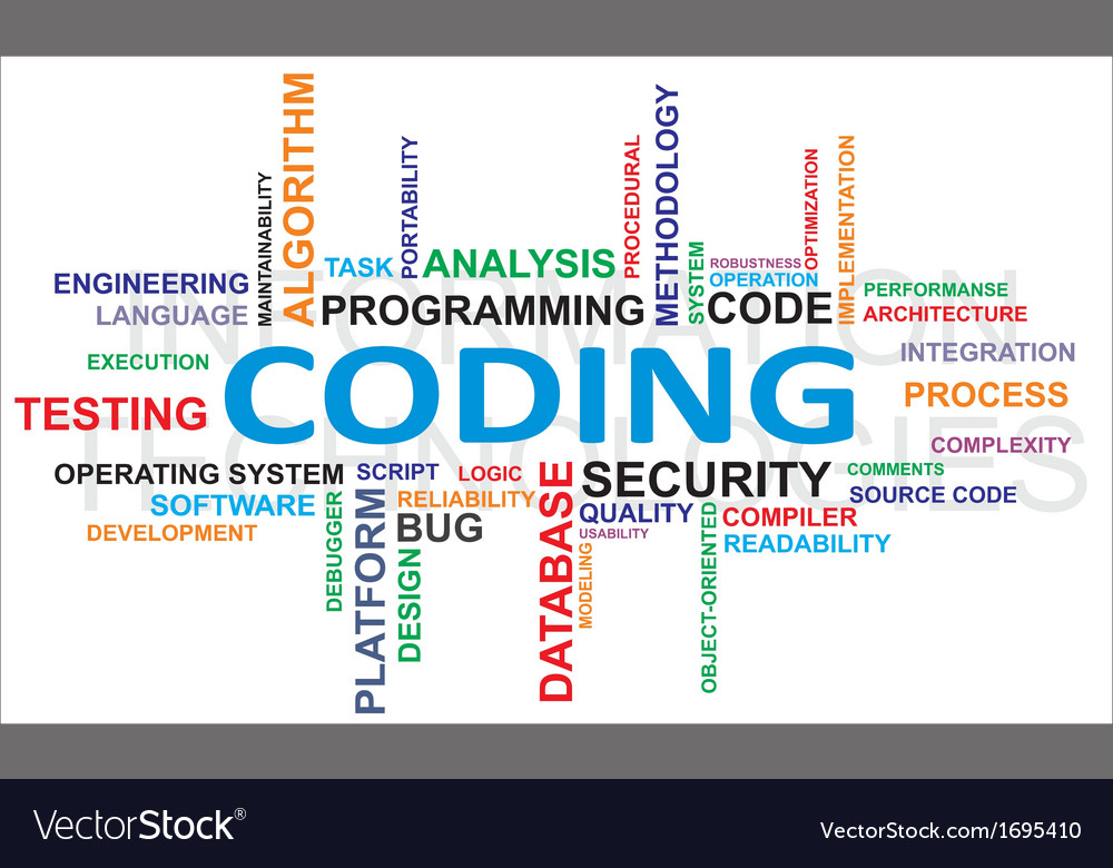 Word cloud coding vector | Price: 1 Credit (USD $1)