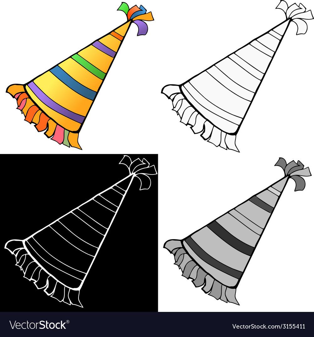 Birthday hat vector | Price: 1 Credit (USD $1)