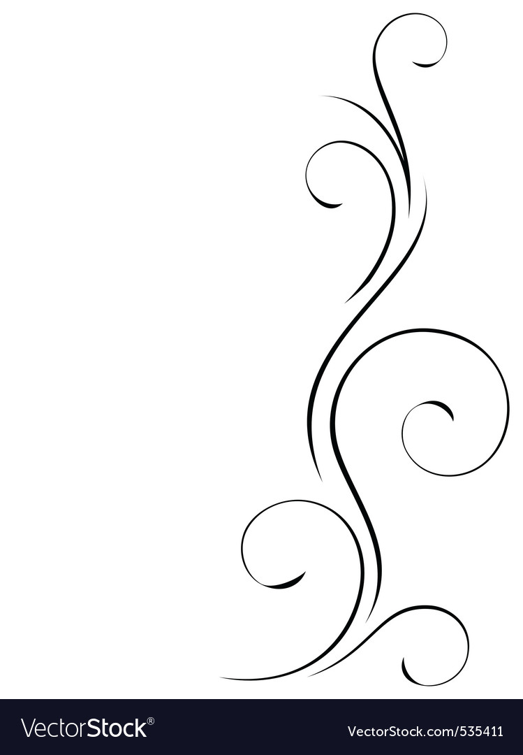 Ct swirly decoration vector illustration vector | Price: 1 Credit (USD $1)