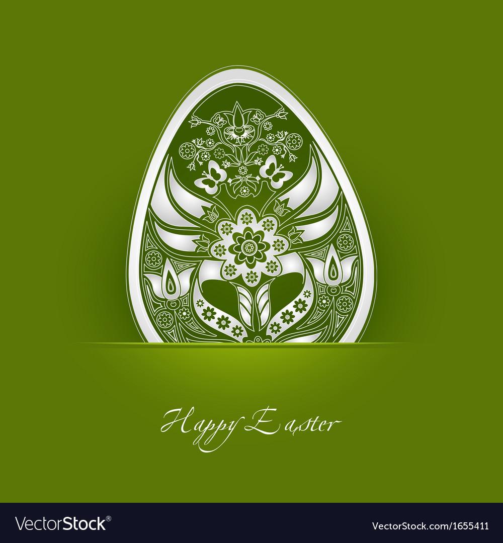 Decorative easter egg label vector | Price: 1 Credit (USD $1)