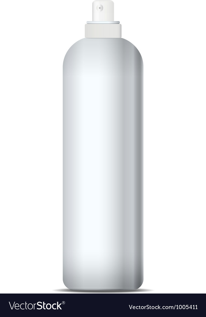Deodorant spray gray can bottle vector | Price: 1 Credit (USD $1)