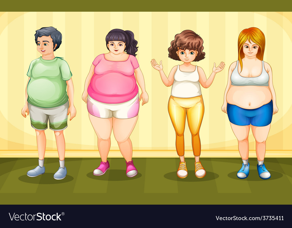 Fat people vector | Price: 3 Credit (USD $3)