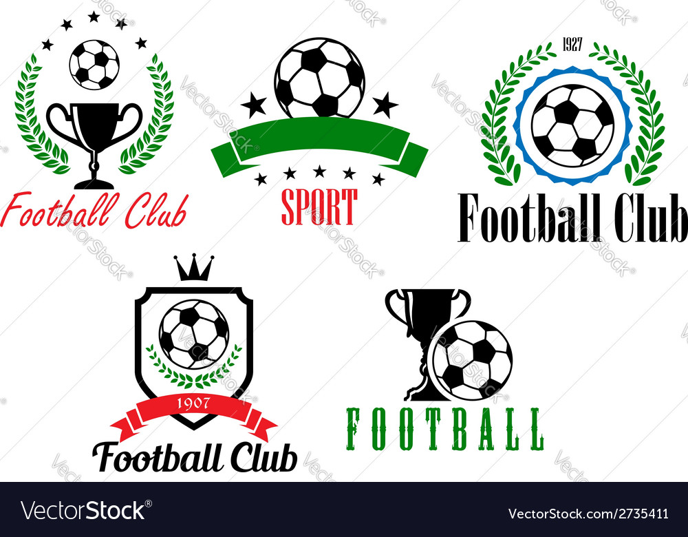 Football and soccer symbols or emblems vector | Price: 1 Credit (USD $1)