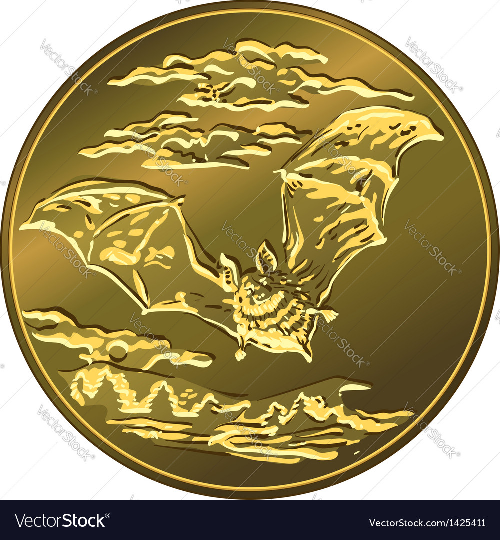 Gold money coin with vector | Price: 1 Credit (USD $1)