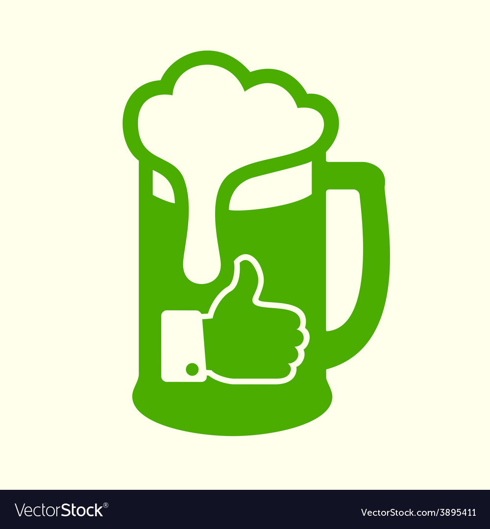 Green beer icon vector | Price: 1 Credit (USD $1)