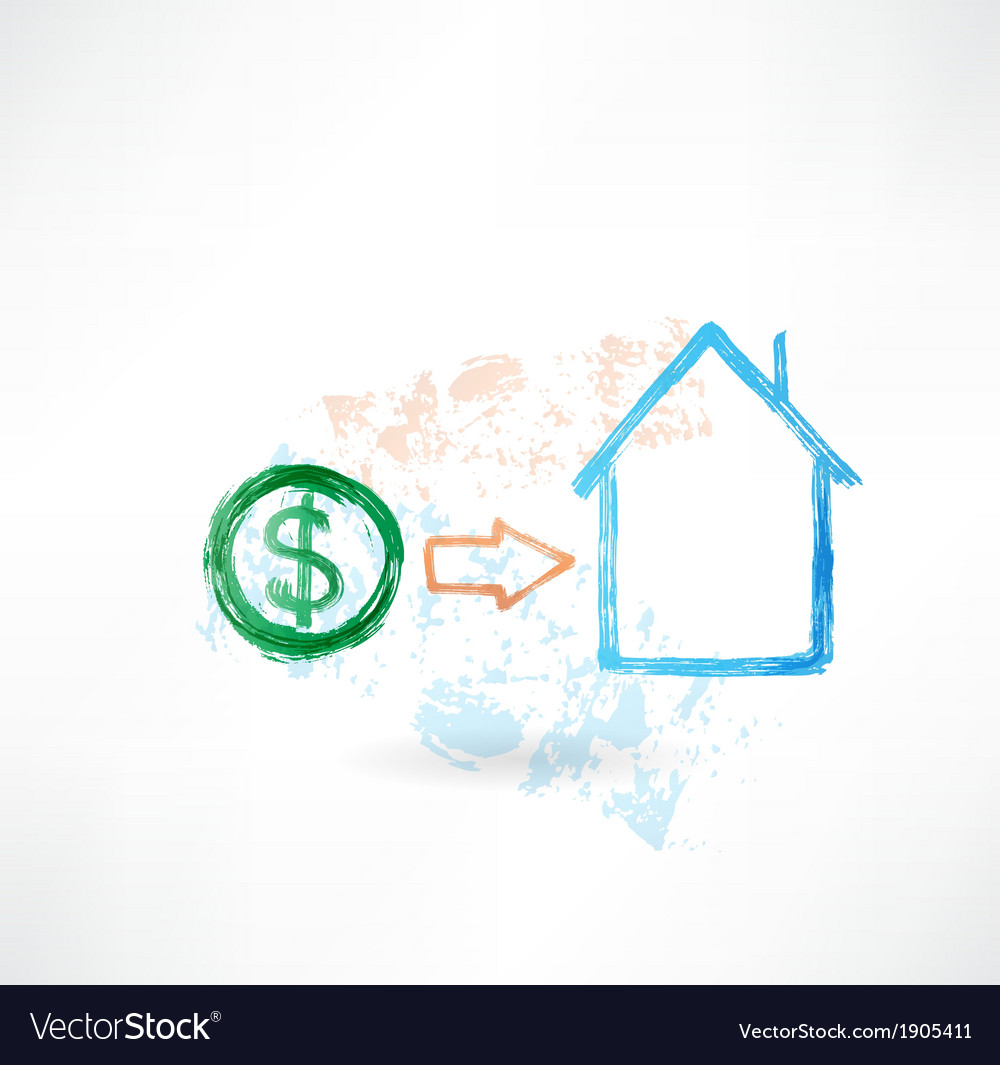 House money grunge icon vector | Price: 1 Credit (USD $1)