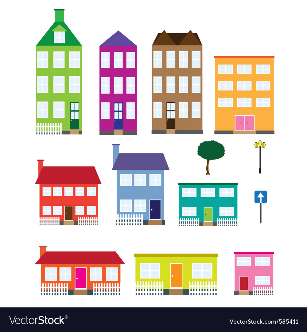 Houses vector | Price: 1 Credit (USD $1)