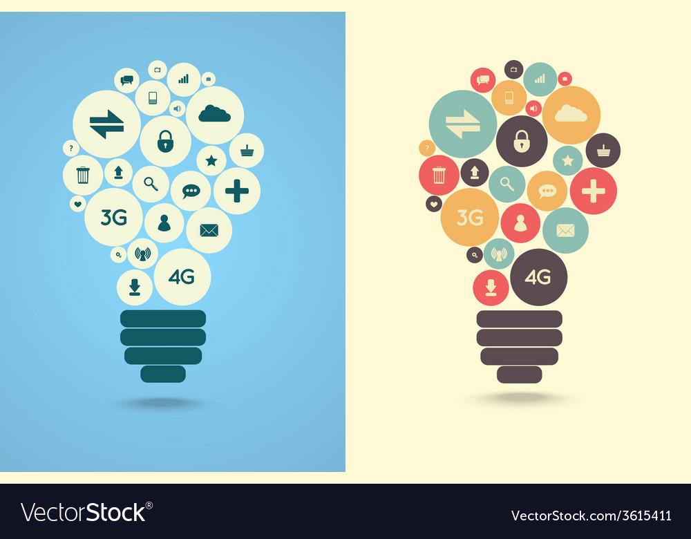 Light bulbs vector | Price: 1 Credit (USD $1)