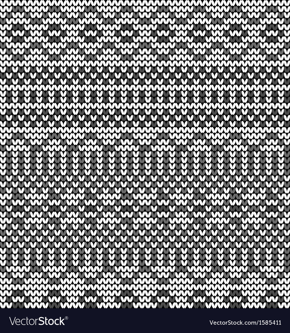 Monochrome seamless knitted pattern vector | Price: 1 Credit (USD $1)