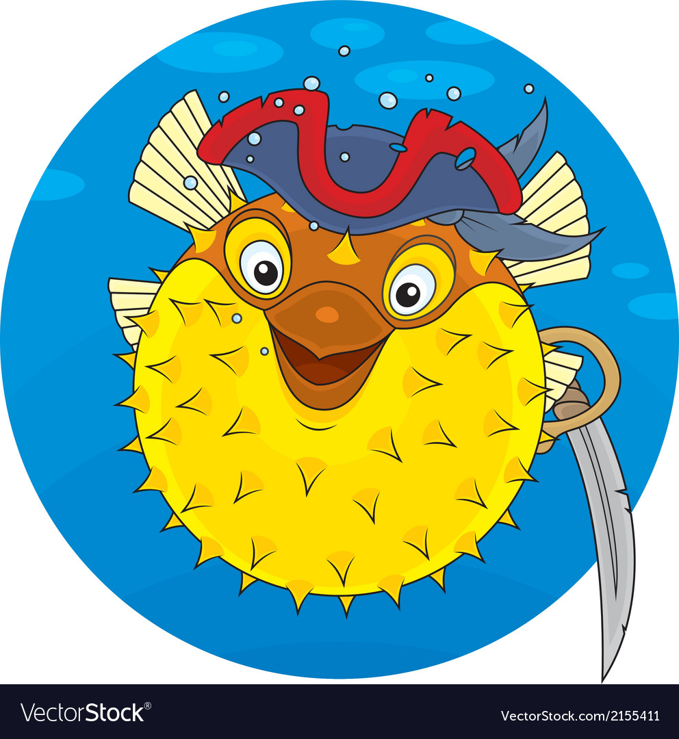 Puffer fish pirate vector | Price: 1 Credit (USD $1)